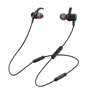 Auriculares Inalámbricos Bluetooth Sports Bluetooth 4.2 Auriculares Neckband con Micrófono para iPhone / Samsung Auriculares Fitness (Black): Amazon.es: ...