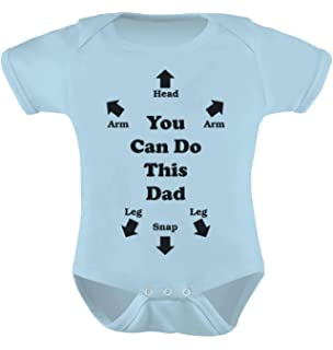 you can do this dad funny christmas gift for new dads cute baby bodysuit