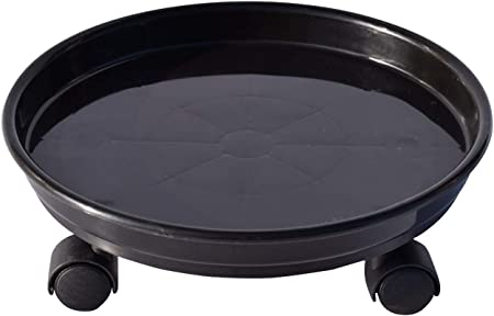 """11/"""" Plant Pot Round Mover Trolley Caddy Garden Metal Stand with casters wheels"""