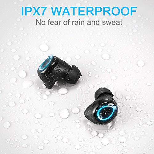 Bluetooth 5.0 Wireless Earbuds with Charging Case, Wireless Headphones 140H Playtime, IPX7 Waterproof TWS Stereo Earphones in-Ear Built-in Mic Headset Premium Deep Bass for Sport, Digital LED Display
