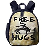 Free Hugs Youth Wrestling Gift 3D Print Student Backpack Kids Fashion Schoolbag