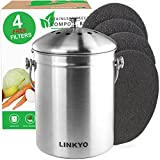 LINKYO Compost Bin - Stainless Steel Kitchen Composter Review and Comparison