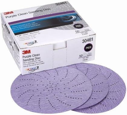 3M 30472 Hookit Purple 5 P500 Grit Clean Sanding Disc