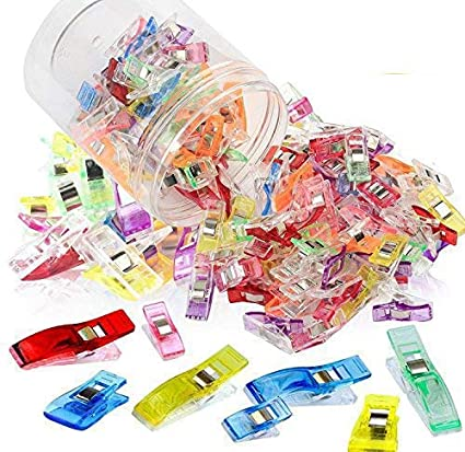 HNYYZL 100 Pcs Sewing Clips for Quilting Crafting Assorted Color