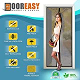 Dooreasy Premium Fire Retardant Fiberglass Insect Screen, Fits Doors Up To 70 Inch By 79 Inch, Pets Friendly Magnetic Easy Screen Door, Your Family Safe From Insects, Let Fresh Healthy Air Home