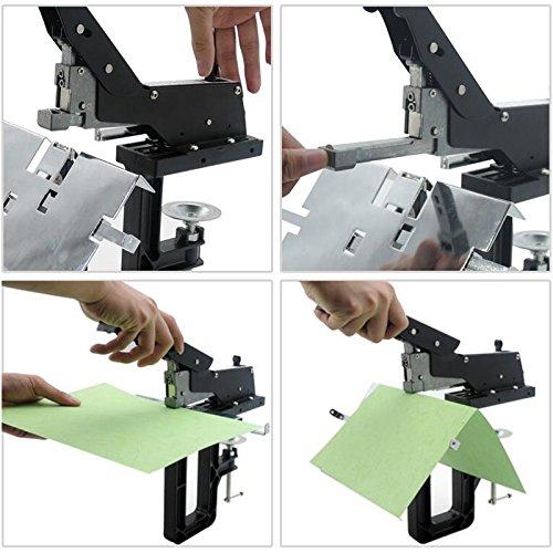 Professional Manual Dual Flat Nail Saddle Stitch Stapler