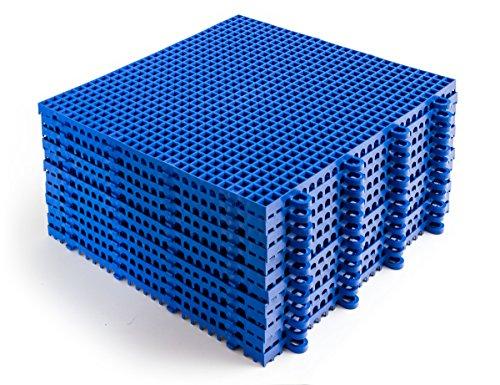DuraGrid ST24GRAY Comfort Tile Interlocking Modular Multi-Use Safety Floor Matting (24 Pack), Gray, Piece by DuraGrid® (Image #5)