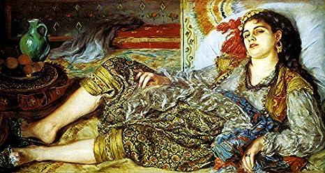 Odalisque La Femme D Alger Algerien Woman 1870 Peinture Par Auguste Renoir Sur Toile Repro Amazon Ca Maison Et Cuisine