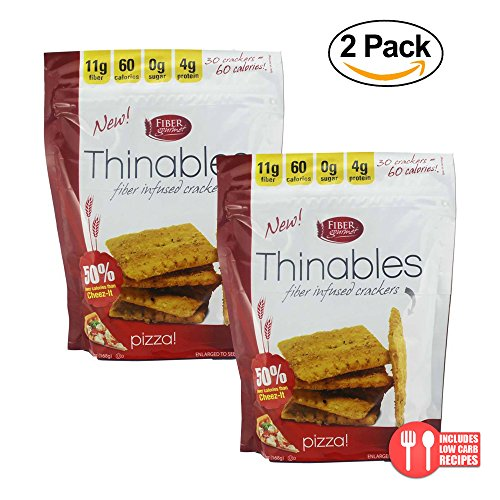 Fiber Gourmet, Thinables, Low Carb Crackers, 6 Oz. (Pizza)