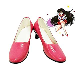 Sailor Moon Sailor Mars Rei Hino Cosplay Shoes Boots Custom Made 1