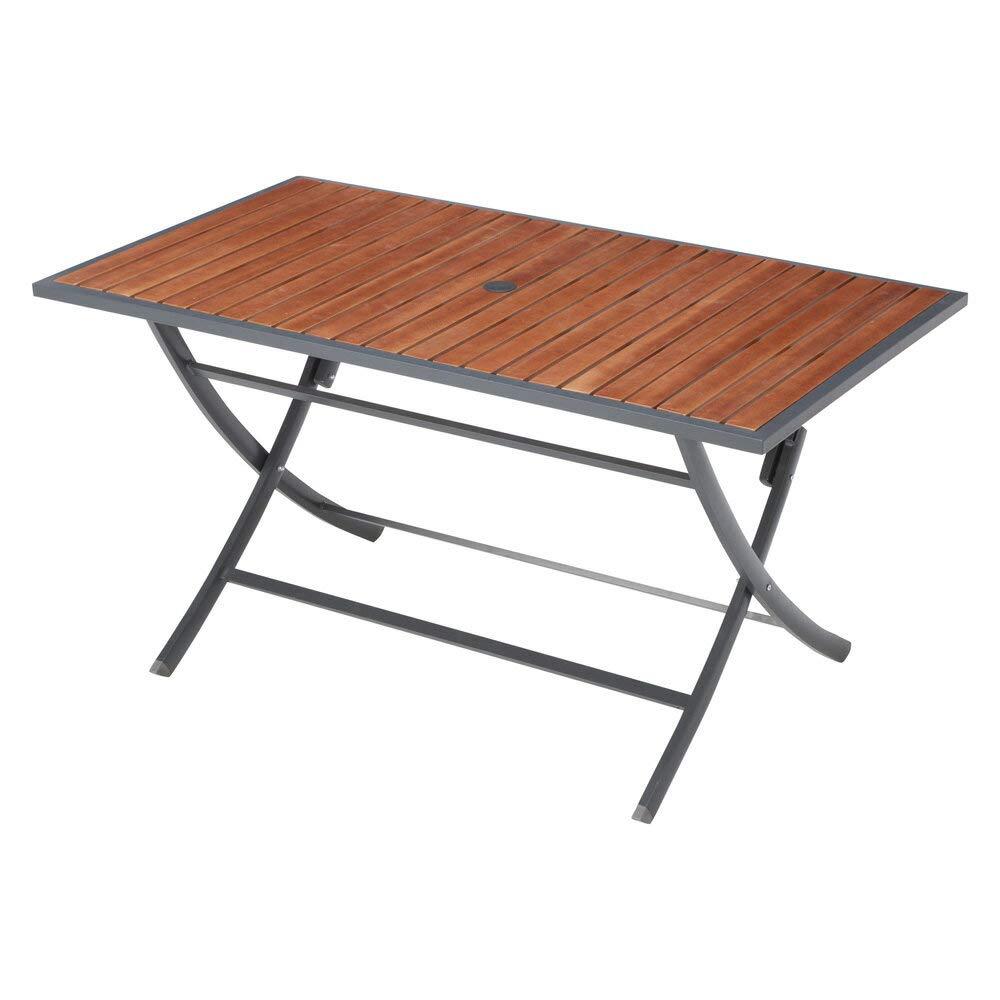 長方形テーブル 天然木製 折りたたみ式 ガーデンファニチャー 23BT-CT B07RWJXJ7L