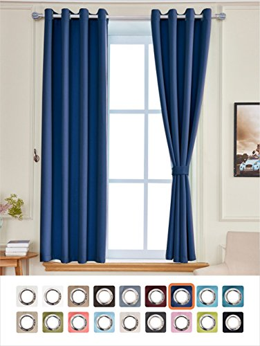 light blue curtains 63 inch - 8