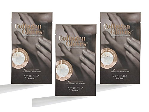 Drip Collage (3 Pack of 6 Pairs Voesh New York Deluxe Manicure Collagen Gloves bundled by Maven Gifts)