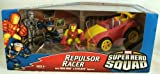 Hasbro Marvel Superhero Squad Repulsor Racer with Figures45; Iron Man and Cyclops