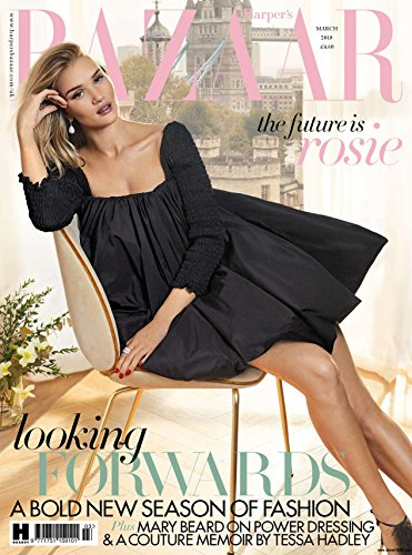 Harpers Bazaar Uk  March  2018  Rosie Huntington Whiteley Cover