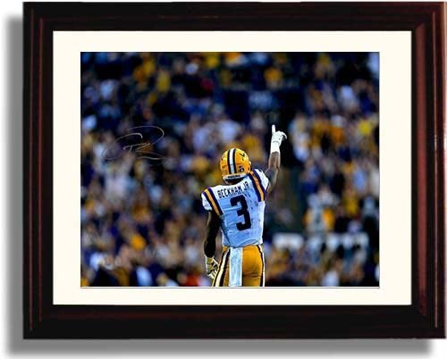 Framed LSU Tigers Joe Burrow Throwing Deep Autograph Replica Print