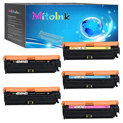 MitoInk D3L09A Toner Cartridge Compatible for HP Color Laserjet Enterprise M750dn Printer Toner Cartridge - 5 Pack(Black 13,500 Pages and Colors 15,000 Pages)
