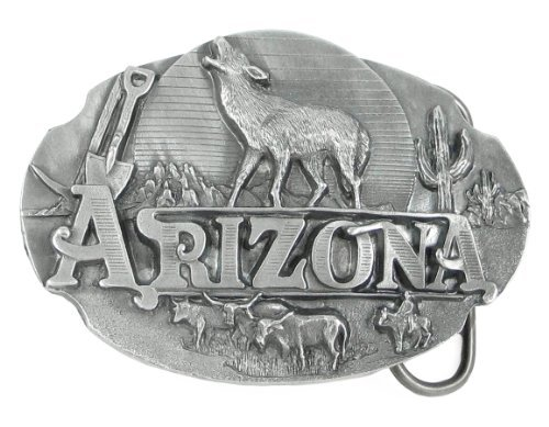 Pewter Belt Buckle - Arizona Howling Wolf - Unfinished