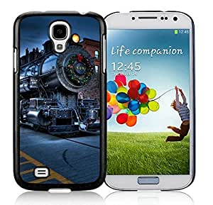 Galaxy S4 cases, Samsung Galaxy S4 cases,Christmas City Locomotive Railway Samsung Galaxy S4 i9500 Case Black Cover WANGJING JINDA