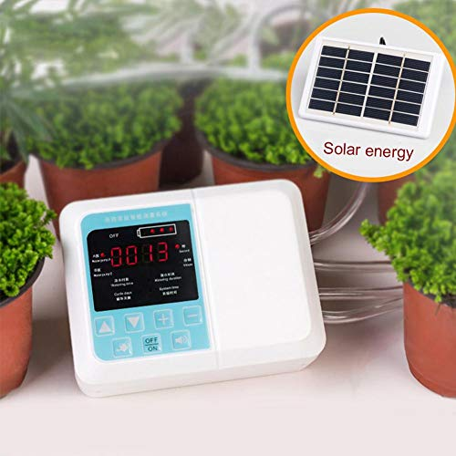 Smart Irrigation Sprinkler Controller Rainproof Automatic Watering Potted With Built-in Water Pump Two Charging Modes Irrigation Controller Smart Watering Timer For Watering Potted Gardening Garde