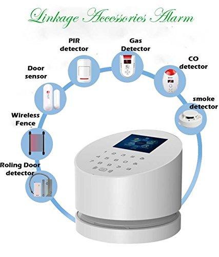 KERUI 2,4 G Wifi sistema de alarma, W2 GSM teléfono fijo inalámbrico casa de seguridad antirrobo con alto al aire libre sirena DIY Kit de marcado ...