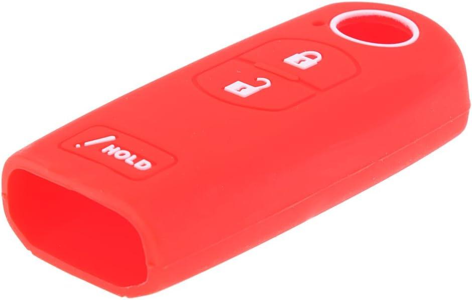 Blue Auto Car 3-Button Remote Key Silicone Luminous Case Cover for Mazda