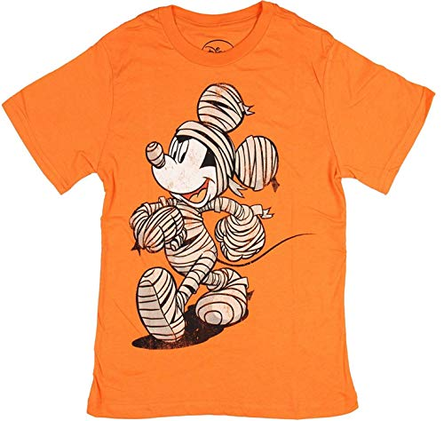Disney Mickey Mouse T-Shirt Mummy Costume Boy's Orange Tee Shirt Large -