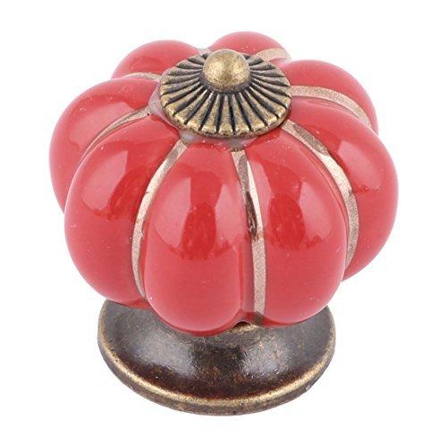 (Céramique eDealMax ménagers Meubles en Forme de citrouille Armoire Armoire Porte Poignée Carmine Pull )