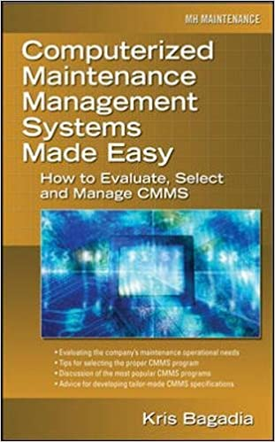 Computerized Maintenance Management Systems Made Easy: How