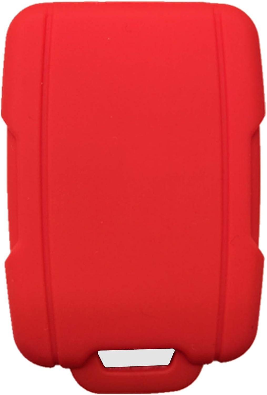 Rpkey Silicone Keyless Entry Remote Control Key Fob Cover Case protector For Chevrolet Silverado 1500 2500 HD 3500 HD Colorado Tahoe Suburban Gmc Yukon Sierra 1500 Canyon M3N-32337100 13577770 2288148