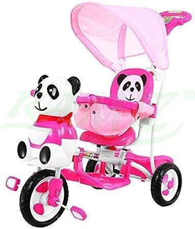 Triciclo - Mecedora infantil 2 In 1 Panda Triciclo Musical - Rosado