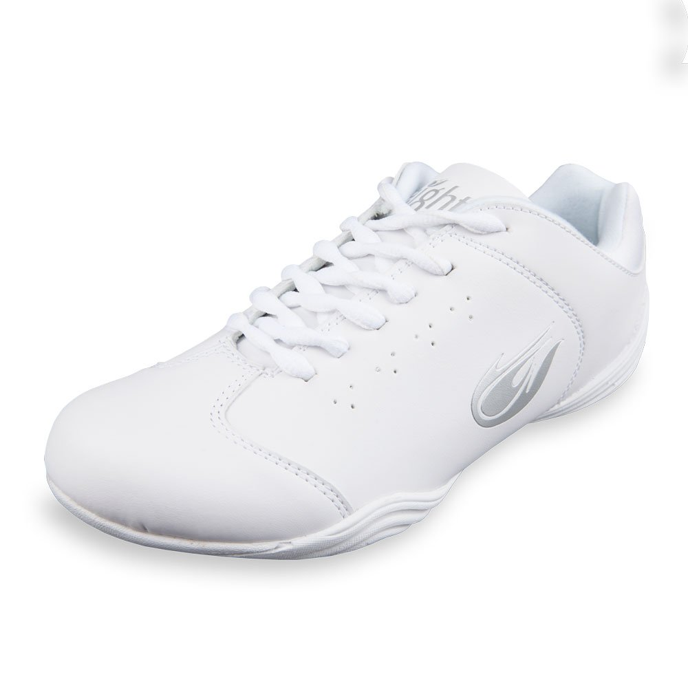Eight Count Unity Cheer Shoe (3.0Y) White/Metallic Silver by Cheer Fantastic