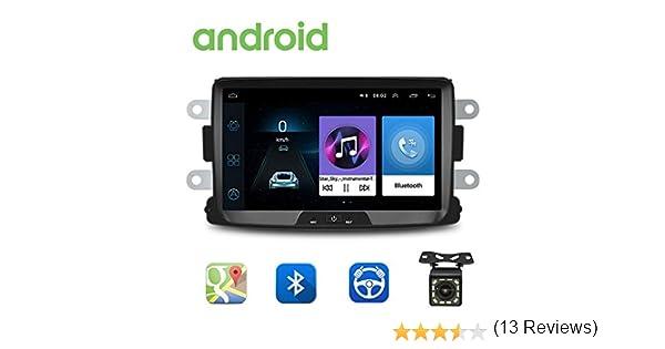 Radio de Coche Android para Renault Dacia GPS CAMECHO Pantalla Táctil Capacitiva de 8 Pulgadas Reproductor Estéreo de Coche WiFi Bluetooth FM USB Dual para Sandero Duster Logan Dokker: Amazon.es: Electrónica