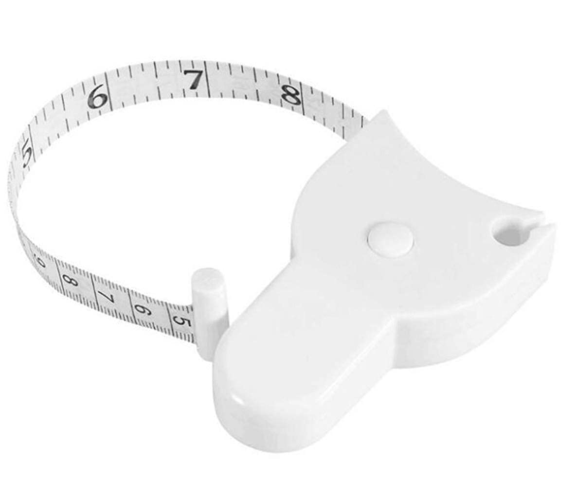DFVVR Tape Measure ❤ Wintape Waist Body Tape Measure with Push Button Measuring Waist and Arms Pink