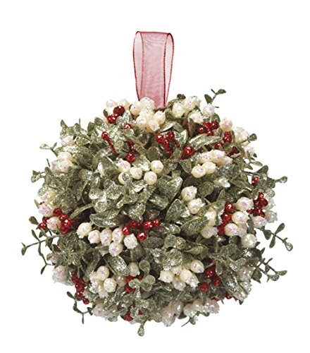 Holly Ball - Door Décor Holly Mistletoe Kissing Ball - 10 Inch