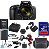 Nikon Coolpix P900s Wi-Fi 83x Zoom Digital Camera + Extra Replacement Battery + Original Accessories + Extremespeed 32GB Commander Memory + Spider Flexible Tripod + Deluxe Carrying Case + 12pc Bundle