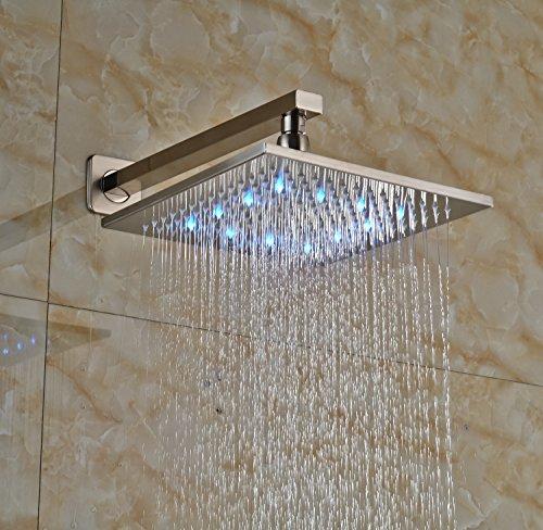 Rozin Brushed Nickel 2 Way Mixer Shower Set Led Light 12