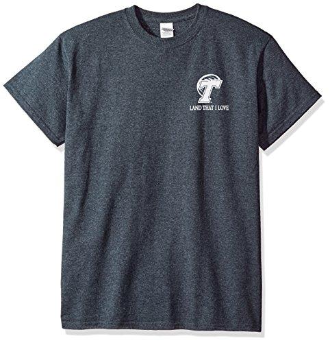 (New World Graphics NCAA Tulane Green Wave Flag Glory Short Sleeve Shirt, X-Large, Dark Heather)
