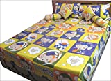 Kids Bedding Set Queen Size Flat Sheet Multocolor Cotton Bed Sheet 7 Pcs India