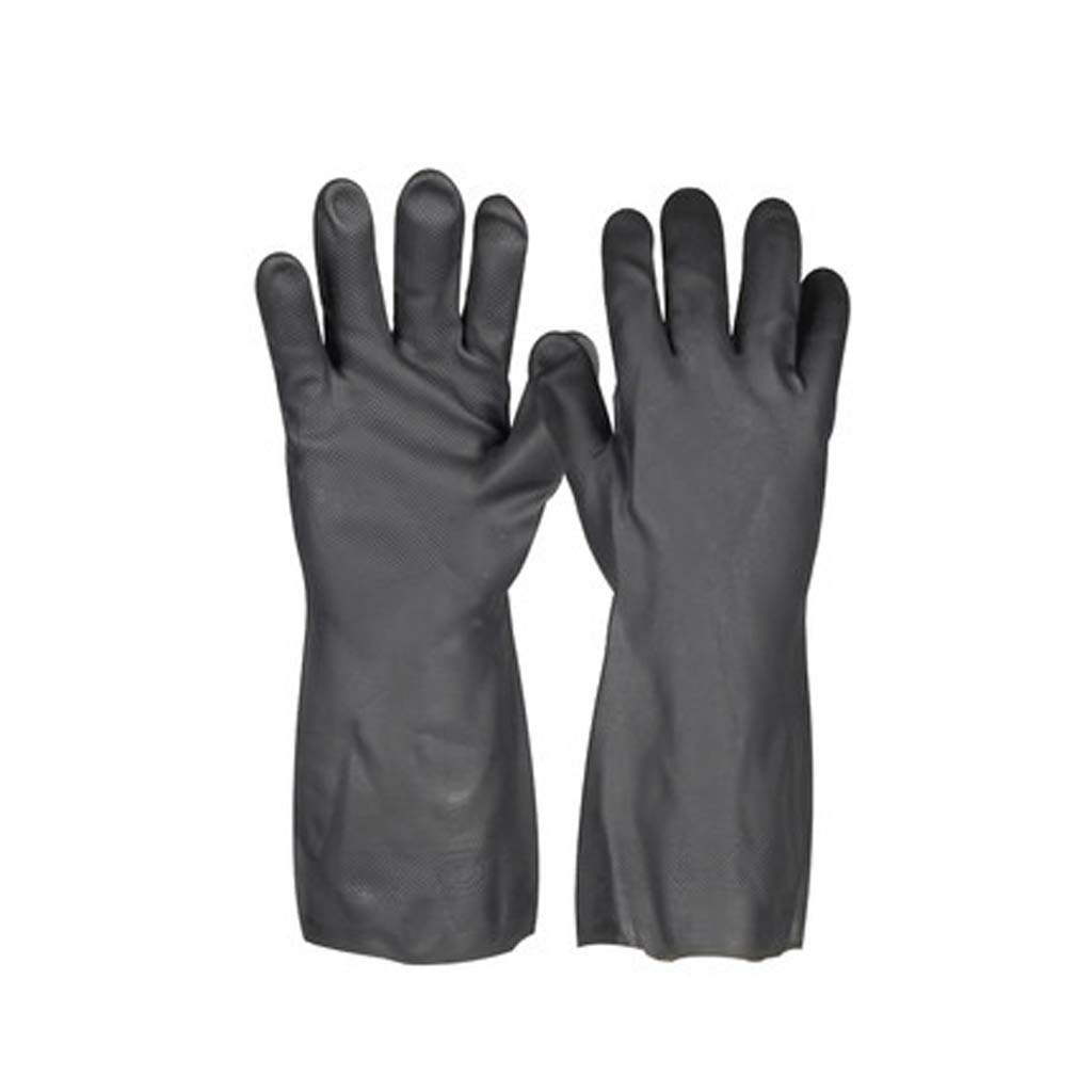 SHWSM Neoprene Anti-Chemical Gloves Anti-Corrosion Acid and Alkali Resistant Industrial Gloves Wear and Oil Resistant Chemicals