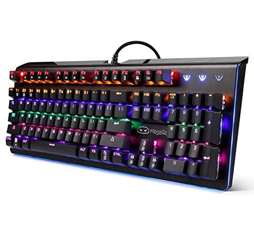 照らされた賭博のキーボードの配線されたラップトップusbの機械感じのキーボードの専門の賭博のキーボード B07NRSLLHG