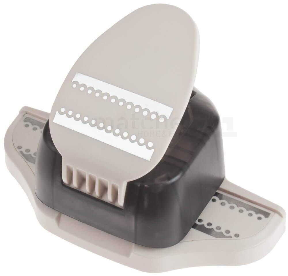 Matches21 Bordürenstanzer Papier Papierstanzer 2in1 Borden- & Randstanzer - Rosan - Papier bis 130 g qm, ca. 65x17 mm   ca. 65x25 mm - Motive wählbar  B07GXYDFG5 | Luxus