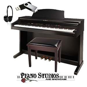 kawai ce220 bundle piano bench headphones and 4gb usb drive musical instruments. Black Bedroom Furniture Sets. Home Design Ideas