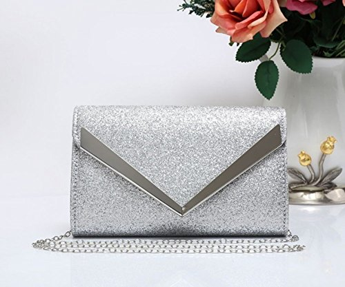 Women's 1704 For Prom LeahWard Wedding Silver Evening Clutch Party New Flap Bag Diamante Women FPwBTdPq