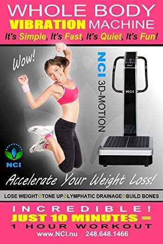 NCI Whole Body Vibration Machine - 3D-Motion Commercial 2HP, 440 lbs , Dual Motor, Large Vibrating Platform, USB Programmable