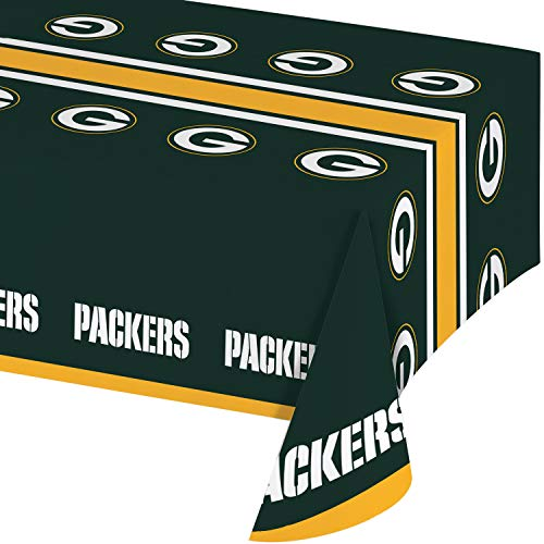 Green Bay Packers Plastic Tablecloths, 3 ct ()