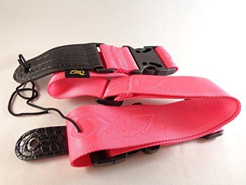 Pink Clip Lock Quick Release Electric Guitar Strap Nylon