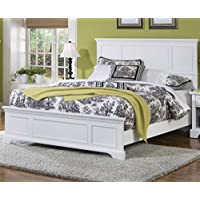 Home Styles 5530-500 Naples Queen Bed, White Finish