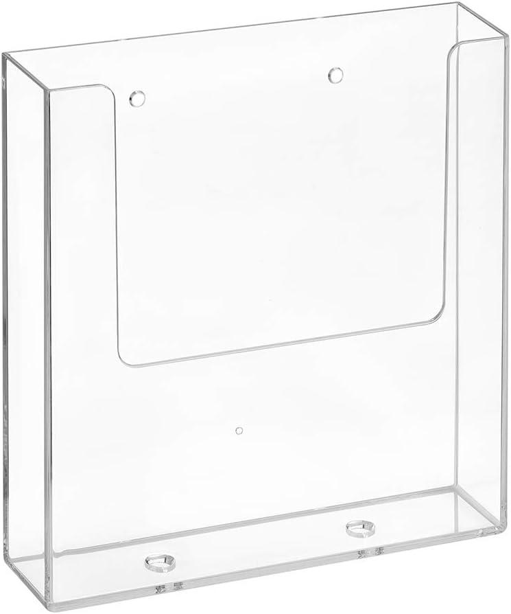transparente Helit H6103002 DIN A4 y A5 Soporte de pared para folletos