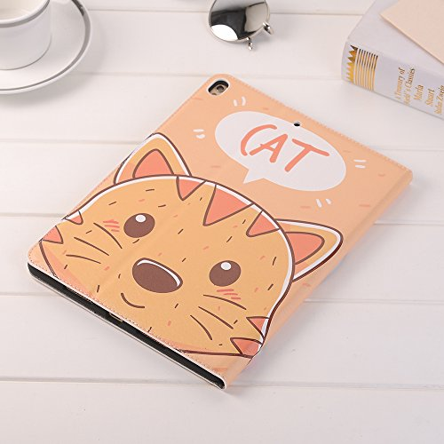 10.5 inch iPad Case Pro 10.5 Sleeve,TechCode Luxury Cute Cartoon Pattern Folio Stand Protective Case PU Leather Book Cover With Credit Card Slots & Pencil Holder Slim Fit for Apple iPad Pro 10.5 inch by TechCode (Image #9)